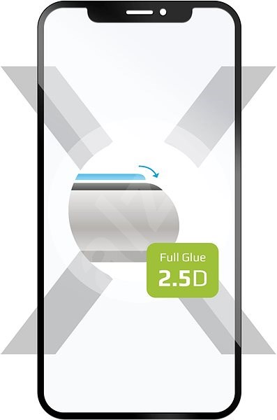 FIXED Full Glue Cover for Asus ZenFone 6 (ZS630KL) Full-screen Black - Glass protector