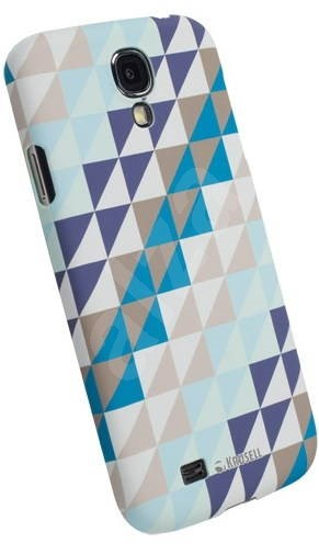 Krusell PRINTCOVER pro Samsung Galaxy S4 (i9505) Blue Triangle - Rear Cover
