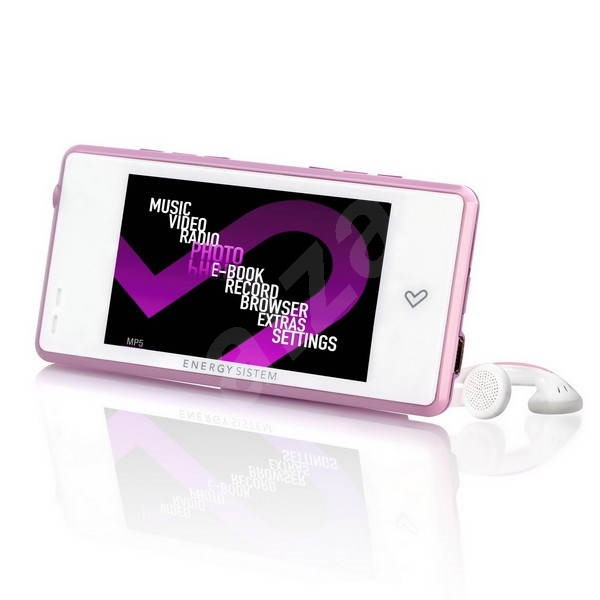 Energy Sistem 6031 8GB Pink & White - MP3 Player