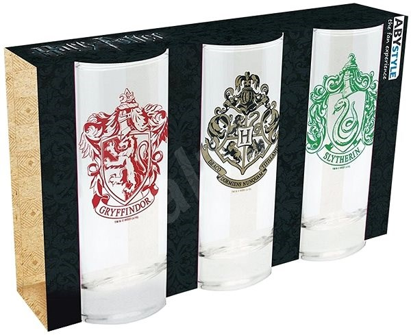 Harry Potter - 3 Glasses - Glass for Cold Drinks