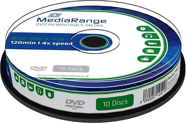 MediaRange DVD-RW 10pcs cakebox - Media