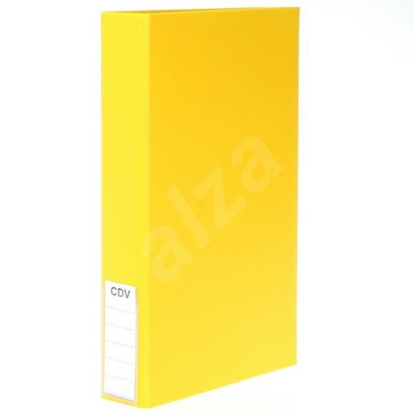 QCP wallet for CD/DVD large, yellow - CD/DVD Organizer