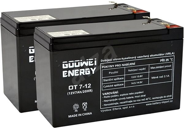 GOOWEI RBC22 - Rechargeable Battery
