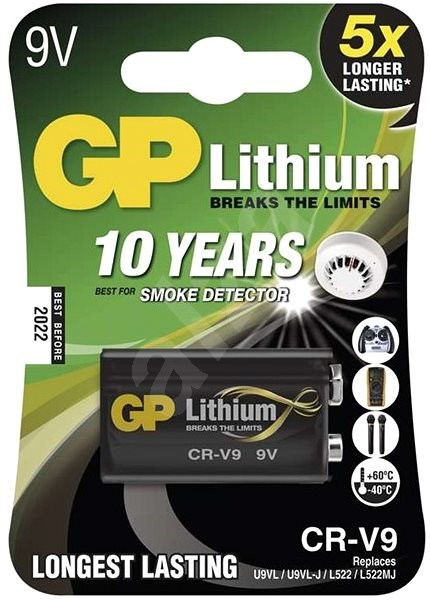 GP CR-V9 (9V) 1pc in blister - Disposable batteries
