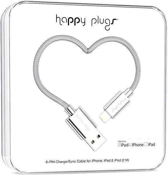 Happy Plugs Lightning Silver - Data cable