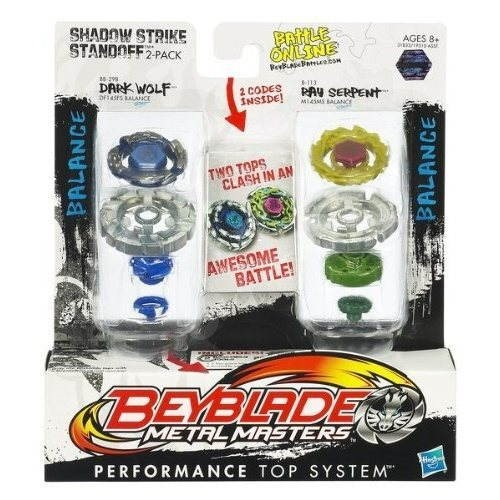 Beyblade - Kotouče Dark Wolf a Ray Serpent -