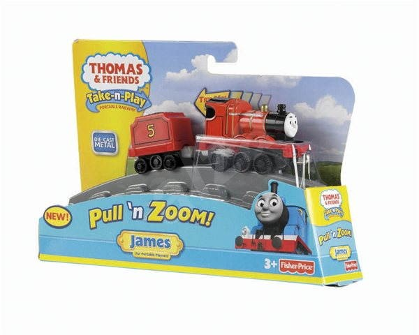 Fisher Price Stretchy metal locomotive James - Train