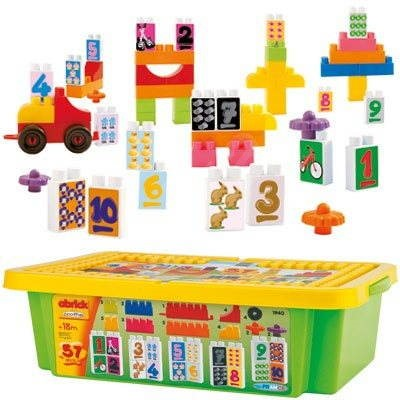 "Abrick dice ""Learning Numbers"" box, 57 parts  - Building Kit"