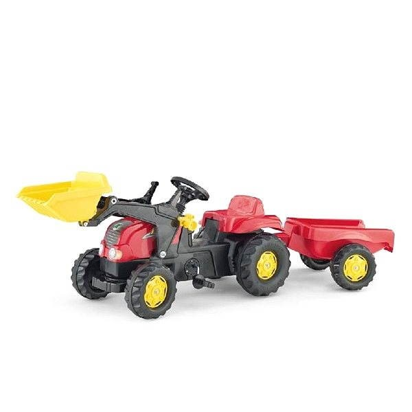 Pedal Farm tractor with a flatbed and a spoon  - Pedal Tractor