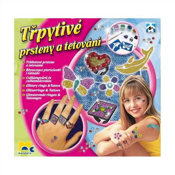 The glittering rings and tattoos  - Creative Kit