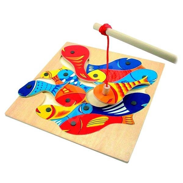 Woody Fish and Fishing Rod - Educational Toy