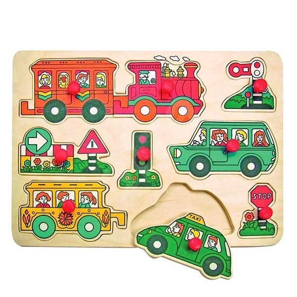 Woody Board Puzzle - Traffic - Puzzle