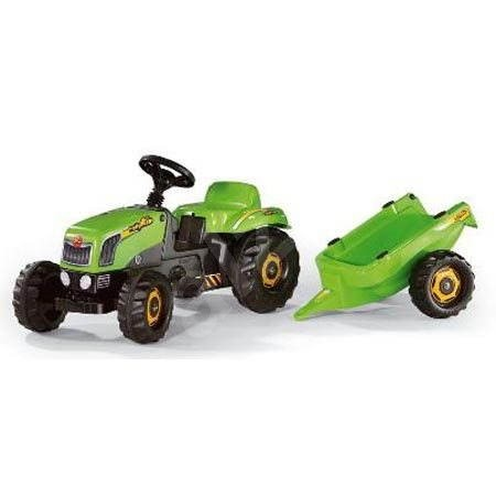 Pedal tractors Rolly Kid with train - Green - Pedal Tractor