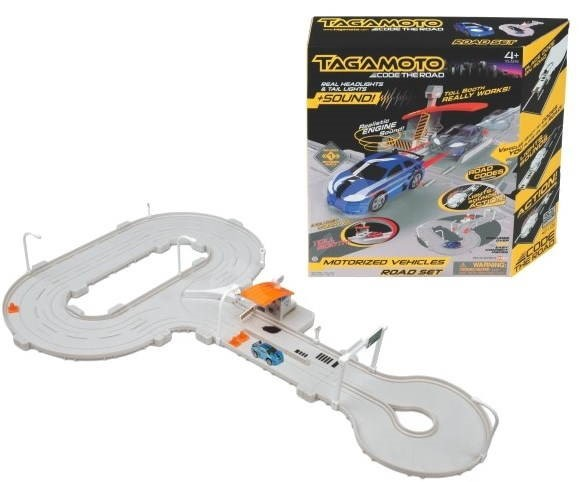 Road Set - Design with barrier  - Slot Car Track