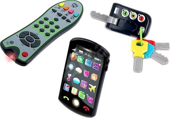 Trio Set Tech Too - keys, remote control and phone - Interactive Toy
