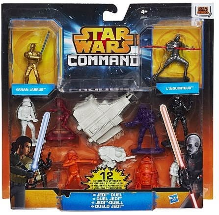 Star Wars Command - mini figure with vehicles Jedi duel - Game set