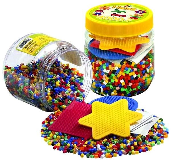 Perler Beads and 3 pegboards 4000 pcs
