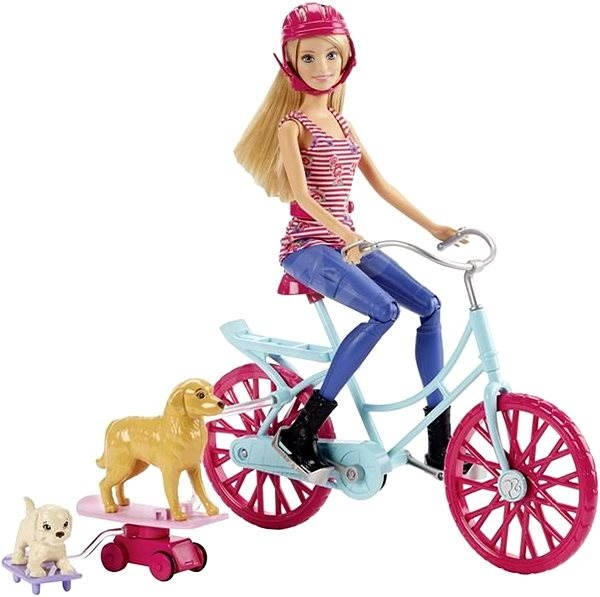 Barbie - cyclist and dog acrobats - Doll