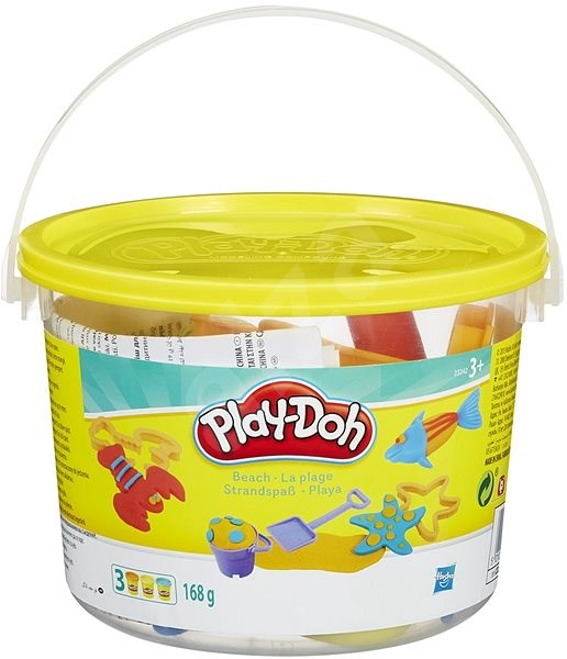 Play-Doh - Mini Beach Bucket with Jars and Moulds - Creative Kit