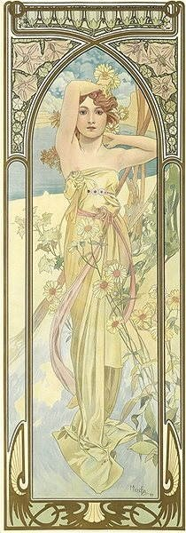 Dino Alfons Mucha - Glow of the day panoramic - Puzzle