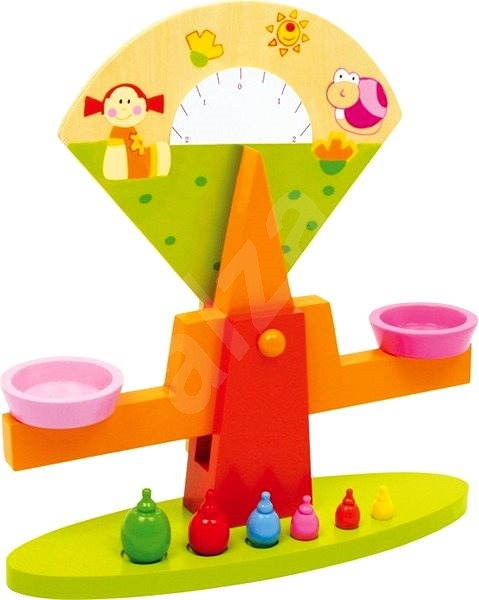 Wooden Foods - Colourful Scales - Game set