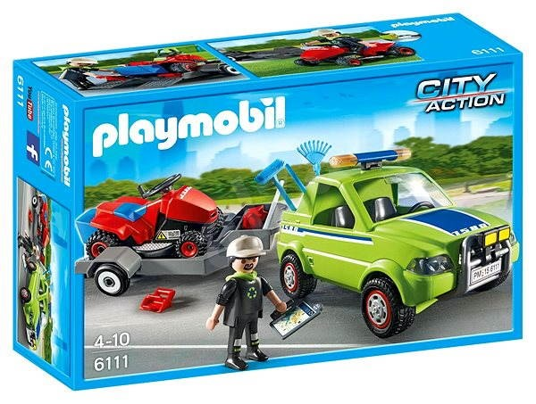 Playmobil 6111 Horticultural car mowing - Building Kit | Alza