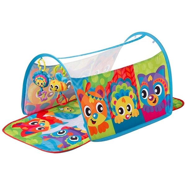Playgro Animals Play Mat with Tunnel - Play Mat
