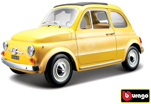 Bburago Fiat 500 F 1965 Yellow - Model