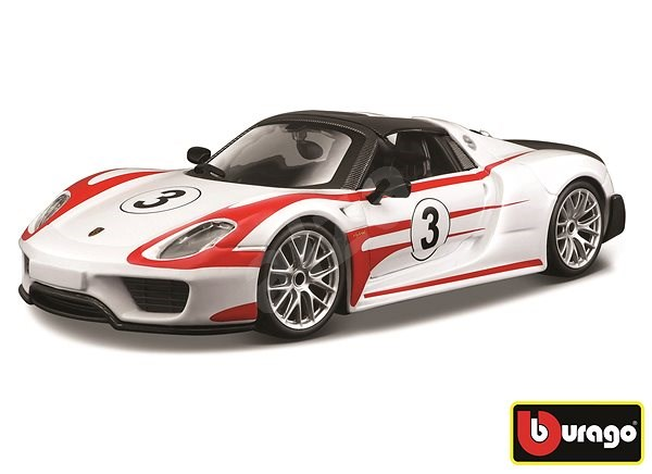 Bburago Race Porsche 918 Weissach White - Model