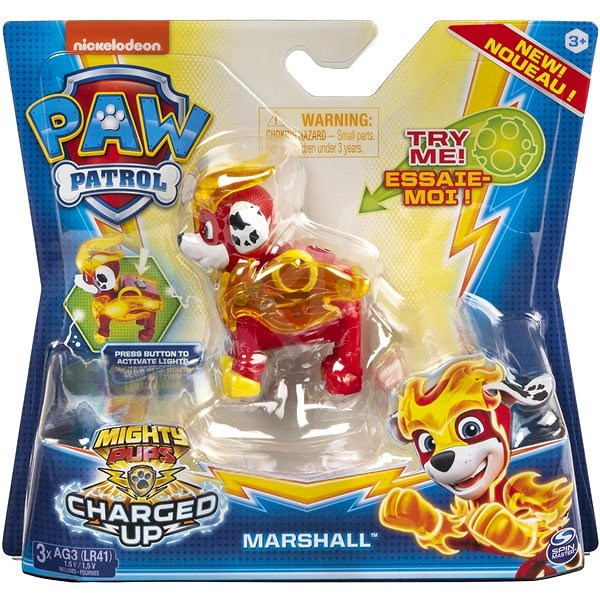 Paw Patrol Figurines With Light Effect Marshal - Figure Light