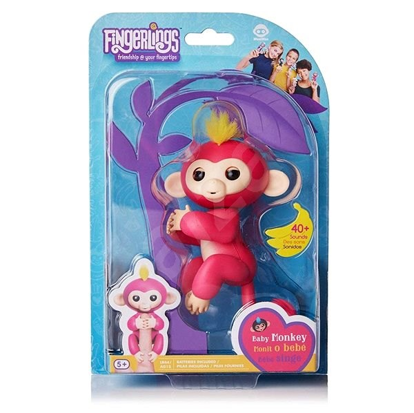 Fingerlings - Bella Monkey, Pink - Interactive Toy