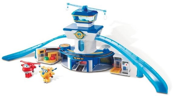 Super Wings - World Airport with Big Control Tower, Play Set + Jett and Donnie - Game set