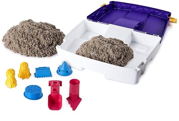 Kinetic Sand Travel case with Moluds - Creative Kit