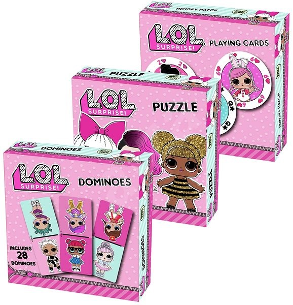 LOL Triple Fun-puzzle, Cards, Dominoes - Board game