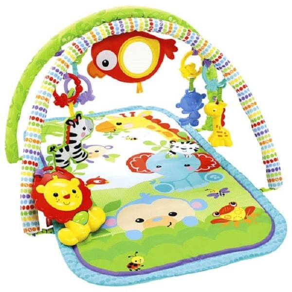 Fisher-Price 3 in1 Musical Activity Set - Rainforest Friends - Blanket