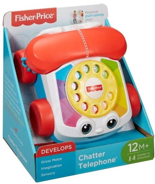 Interactive co Phone Toy uk - Alza Pull Fisher-price Chatter