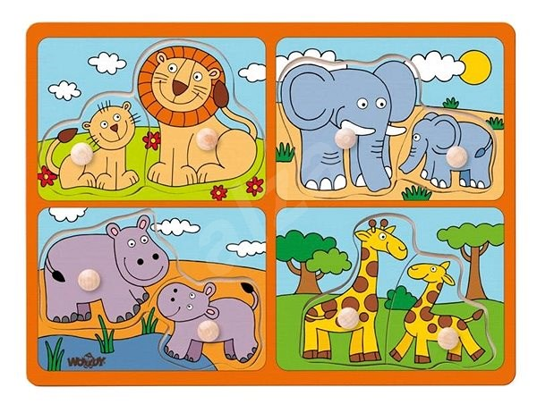 Woody Puzzle for Youngest Children with Handles - Puzzle
