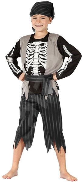 Pirate with Skeleton, Size M - Children's costume
