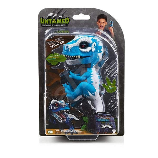 Fingerlings Untamed T-Rex Ironjaw Blue - Interactive Toy