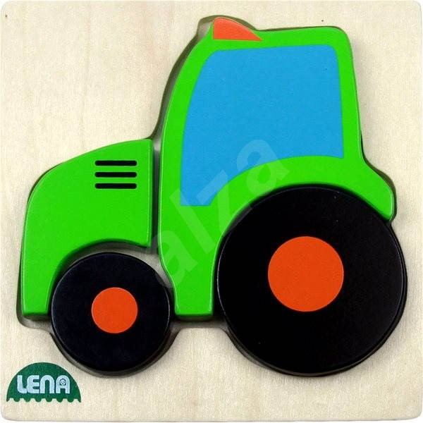 Lena Wooden puzzle - tractor - Puzzle