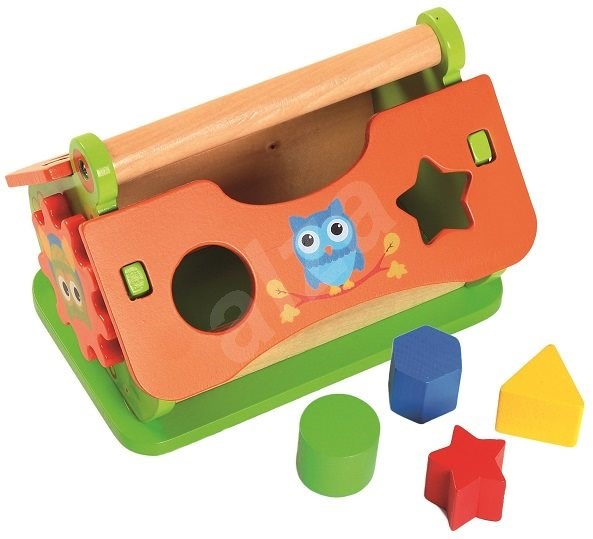 Wooden House with Inserts - Educational toy