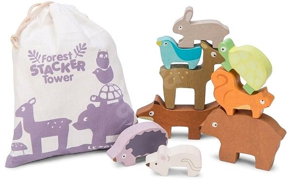Le Toy Van Petilou Forest Stacker Tower Animal - Building Kit
