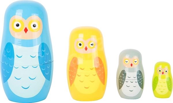 Small foot Russian Nesting Dolls Owl Family - Building Kit