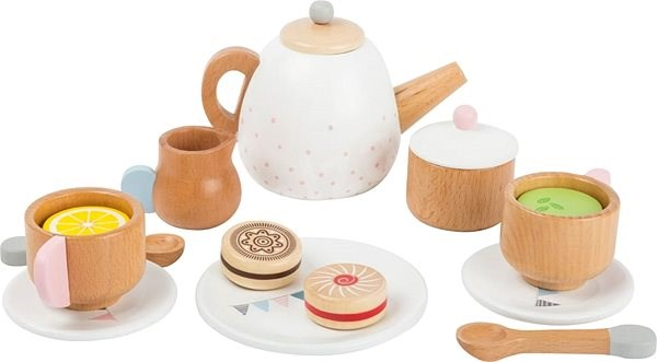 Small Foot Tea Set with Biscuits - Children's toy dishes