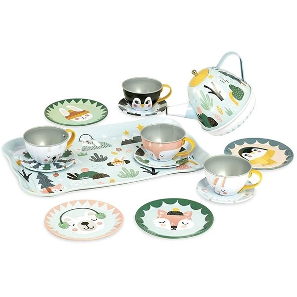 Vilac Musical Tea Set - Children's toy dishes