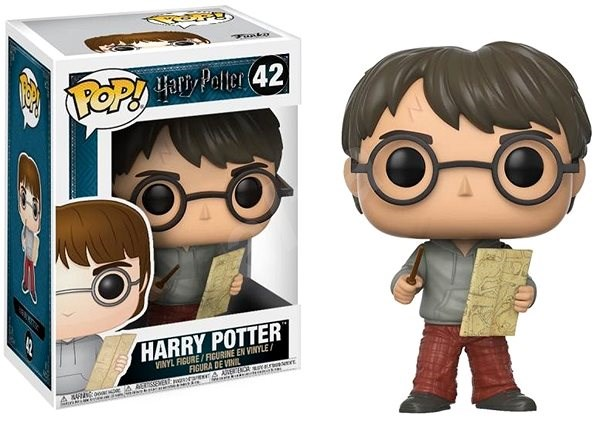 Funko Pop Movies: Harry Potter - Harry w/Marauders Map - Figurine
