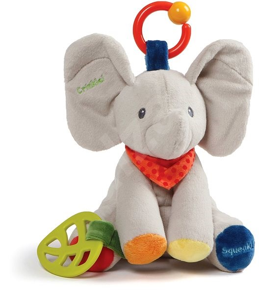 Baby GUND Flappy the Elephant Activity Toy for Educational Play Stuffed Plush, 22cm - Plush Toy