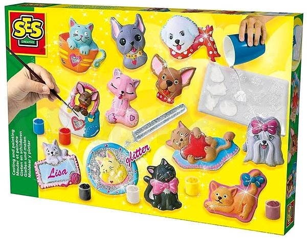 SES Casting and Painting Set of Cats and Dogs - Creative Kit