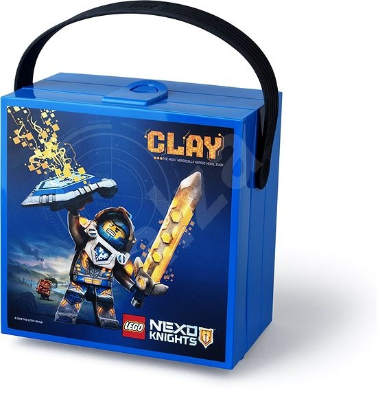 LEGO Box for snack 100 x 200 x 75 mm - blue - Snack Box