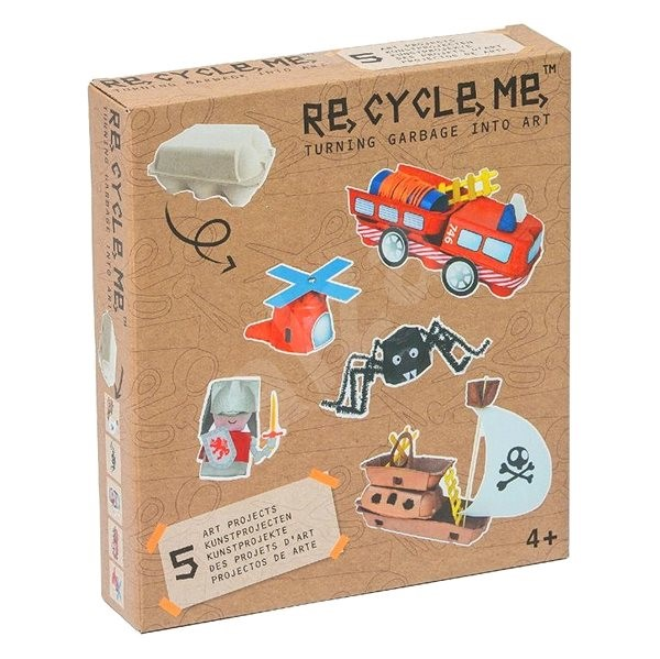 Set Re-cycle me for boys - egg stand - Game Kit